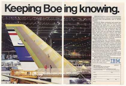 Boeing 747 767 Assembly IBM 3640 Terminals 2-Pg (1982)