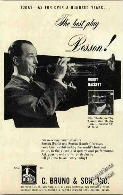 Bobby Hackett Photo Besson Brasses (1957)