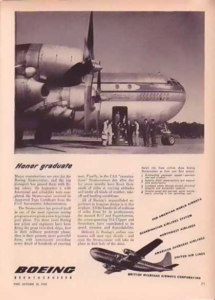 Boeing Aircraft – Honor Graduate (1948)