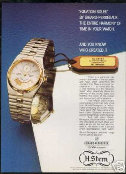 Girard Perrigaux Equation Soleil Watch Photo (1985)