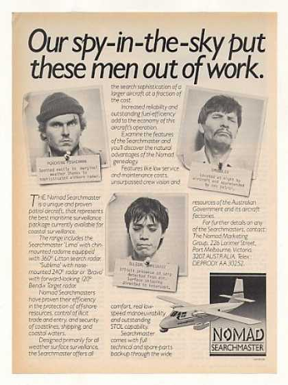 Nomad Searchmaster Patrol Aircraft Men Out Work (1983)