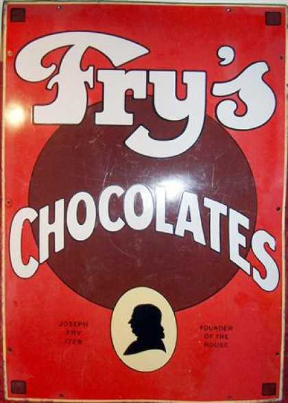 Fry's Chocolates Figural Sign