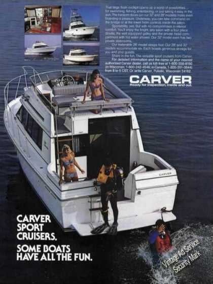 Carver Sport Cruisers Boat Advertising (1985)