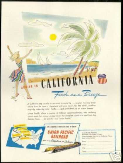 Union Pacific Railroad Train California Travel (1947)