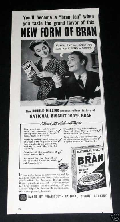 National Biscuit, Bran (1941)
