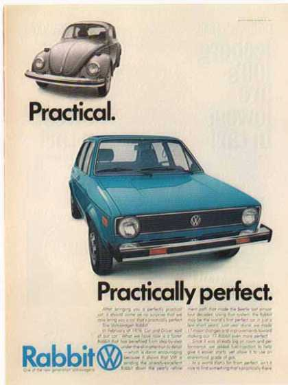 Volkswagen Rabbit Car – Blue (1977)