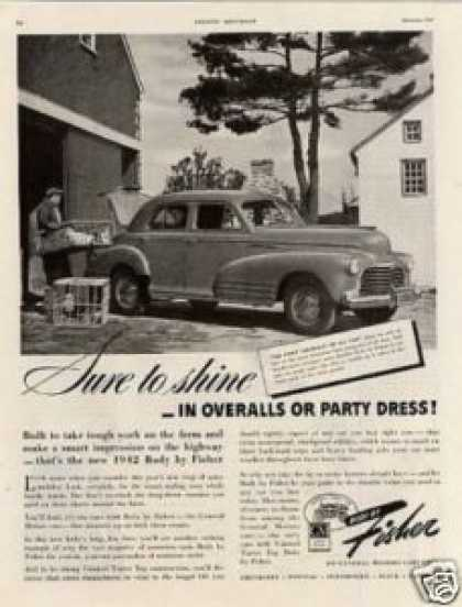 Body By Fisher Ad Chevrolet Car (1942)