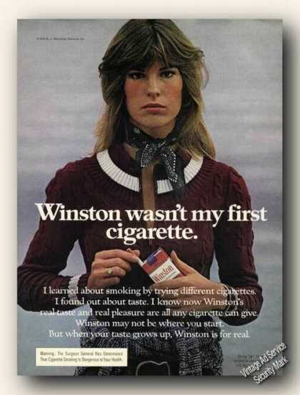 Winston Wasn't My First Cigarette Advertising (1975)