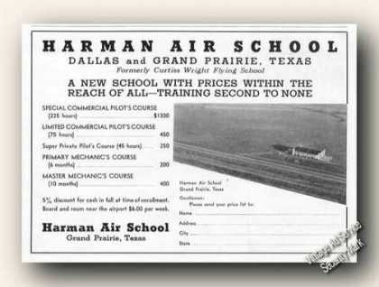 Harman Air School Grand Prairie Tx (1939)
