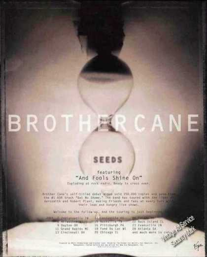 "Brother Cane ""Seeds"" Debut Album/tour Schedule (1995)"