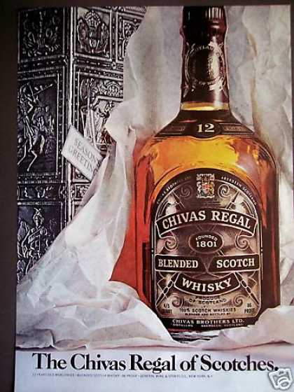 Chivas Regal Scotch Bottle In Holiday Box (1975)
