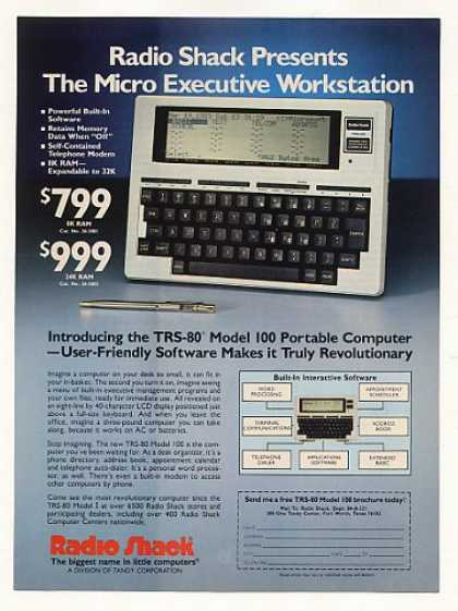 Radio Shack TRS-80 Model 100 Portable Computer (1983)