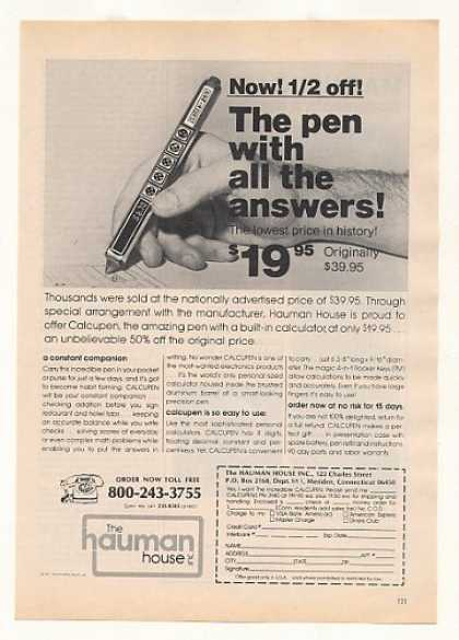 Hauman House Calcupen Calculator Pen (1977)