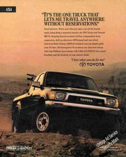 Toyota 4x4 Xtracab Sr5 V6 Collectible (1991)