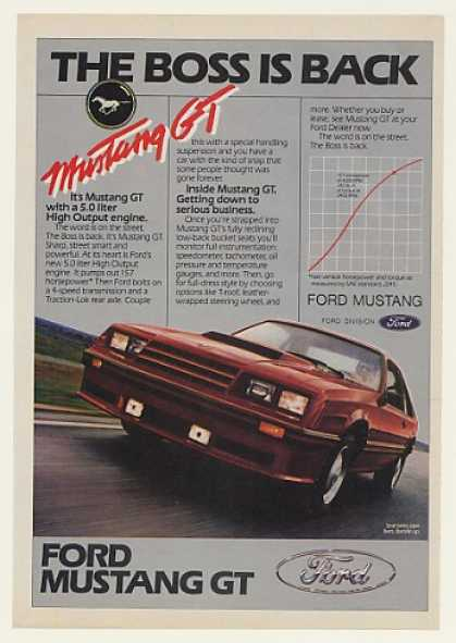 Ford Mustang GT The Boss is Back (1982)