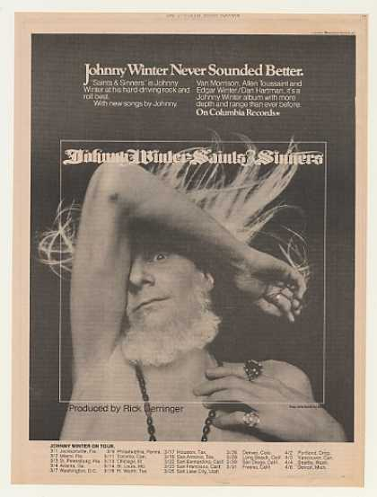 Johnny Winter Saints & Sinners Columbia Records (1974)
