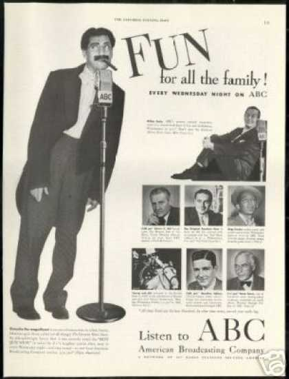 Groucho Marx Photo ABC Radio Vintage (1949)