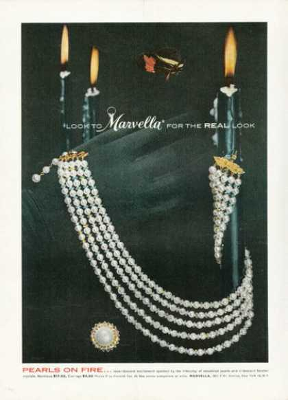 Marvella Pearls On Fire Necklace Incandescent (1958)