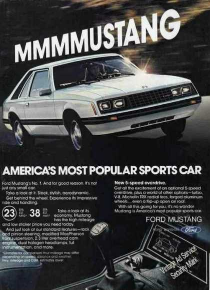 "Ford Mustang ""America's Most Popular"" (1980)"