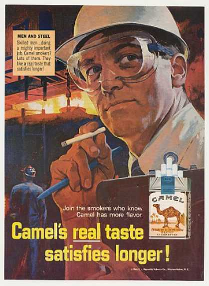 Steel Men Steelworkers Camel Cigarette (1966)