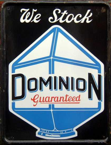 Dominion Petrol – We stock Garage Sign