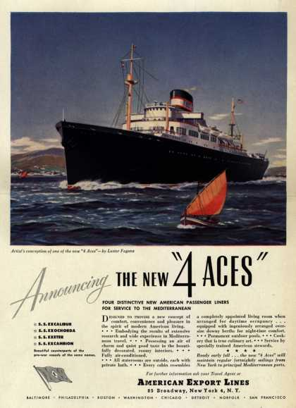 "American Export Line's 4 Aces – Announcing the New ""4 ACES"" (1948)"