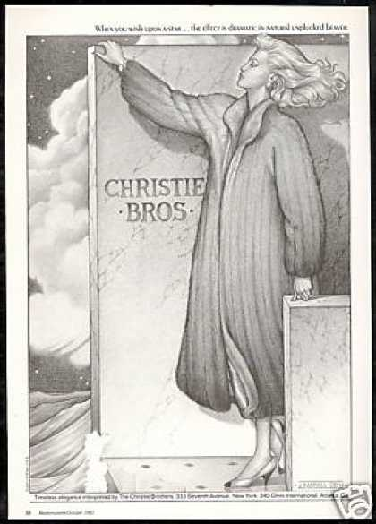 Christie Bros Brothers Beaver Fur Coat (1981)