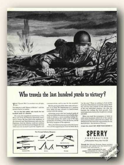 Who Travels Last 100 Foot Soldier Wwii Sperry (1944)