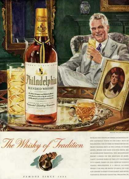 Philadelphia Blended Whiskey of Tradition (1942)