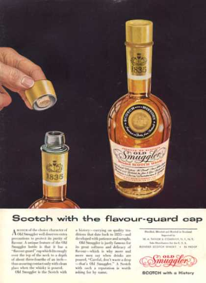 Old Smuggler Scotch Whisky Bottle (1957)