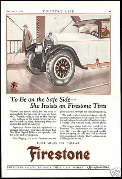Firestone Gum Dipped Balloons Car Tires (1926)