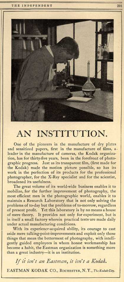 Kodak – An Institution (1916)