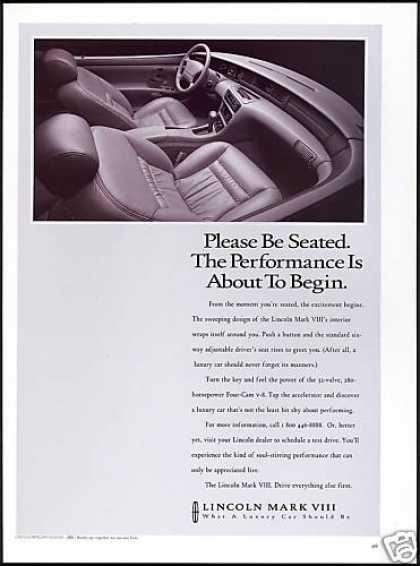 Lincoln Mark VIII Car Interior Photo (1993)