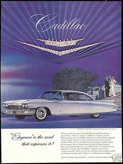Cadillac Car Photo Cartier Jewels Vintage (1960)