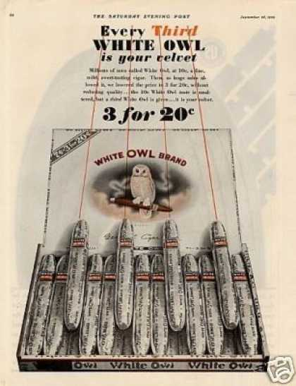 White Owl Cigars Color (1929)