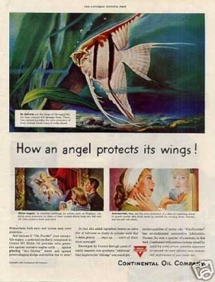 "Conoco Oil Ad ""How an Angel Protects... (1948)"