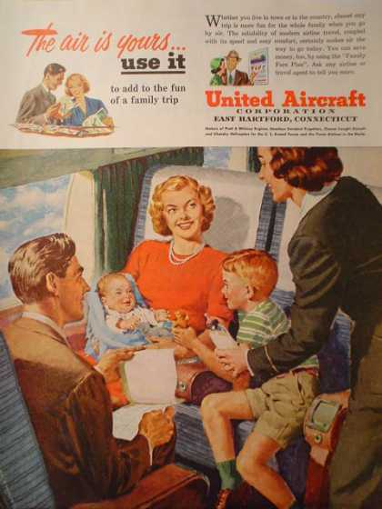 United Aircraft Corp Airplane family theme (1950)