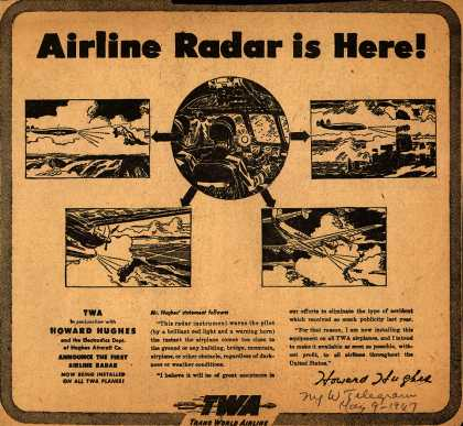 Trans World Airline – Airline Radar is Here (1947)