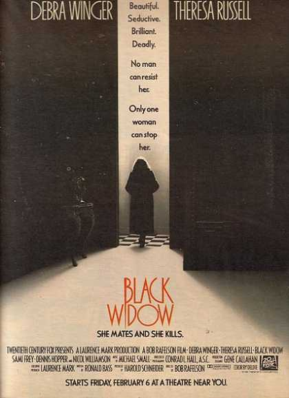 Black Widow (Debra Winger and Theresa Russell) (1987)