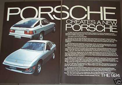 Porsche New Sports Car the 924 (1976)