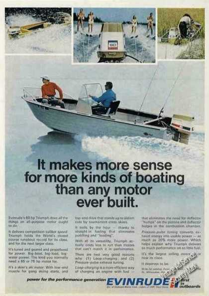 "Evinrude Outboard Motor In Action ""Makes Sense"" (1971)"