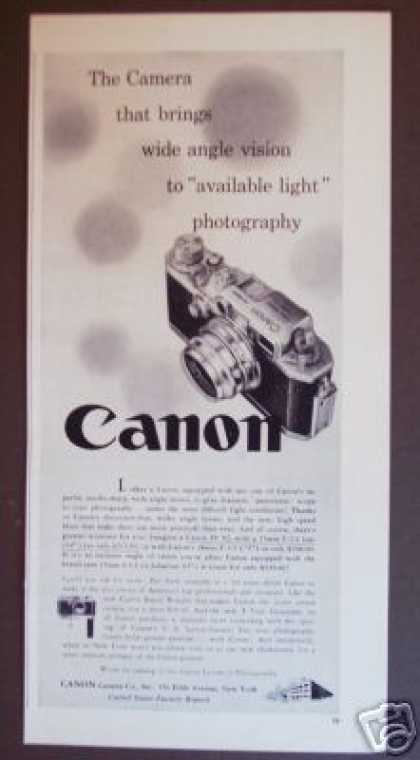 Canon Iv S2 Wide Angle Photo Camera Original (1956)