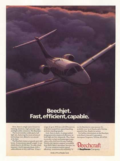 Beechcraft Beechjet Fanjet Jet Aircraft Photo (1987)