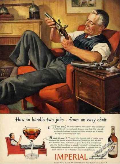 "Imperial Whiskey Wwii ""Don't Take Trains"" (1944)"