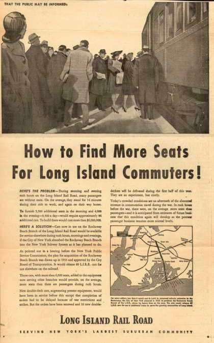 Long Island Railroad – How to Find More Seats for Long Island Commuters (1947)