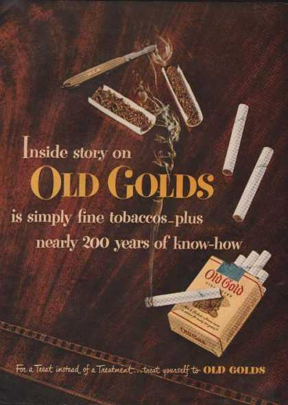 Old Gold Cigarette Inside Story (1949)