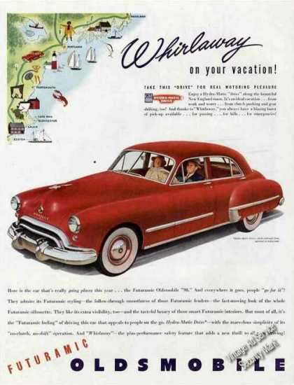 Red Oldsmobile Whirlaway On Your Vacation Car (1948)