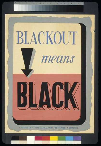 Blackout means black / CH. (1941)