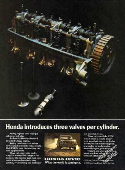 Honda Introduces 3 Valves Per Cylinder Car (1975)