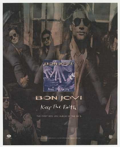 Bon Jovi Keep The Faith Album Promo Photo (1992)